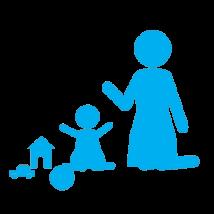 иконка няня с ребенком